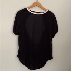 Free people movement short sleeve open back top